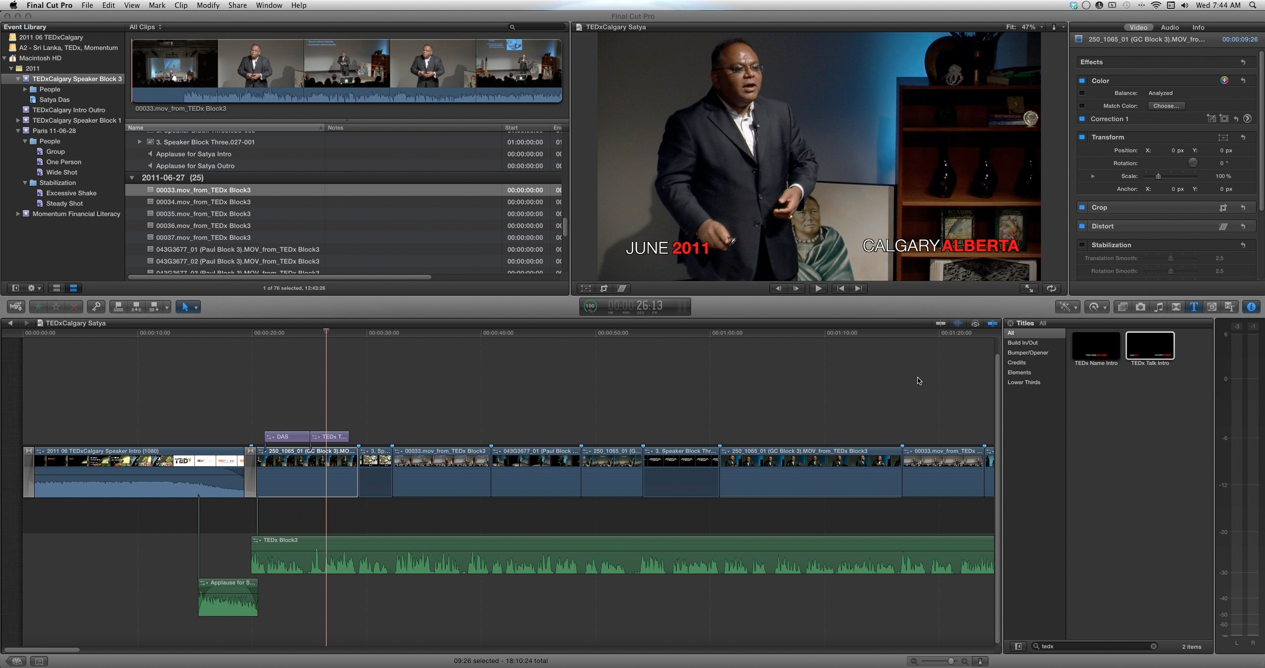 Working in FCP X - keep your sound and image in sync!