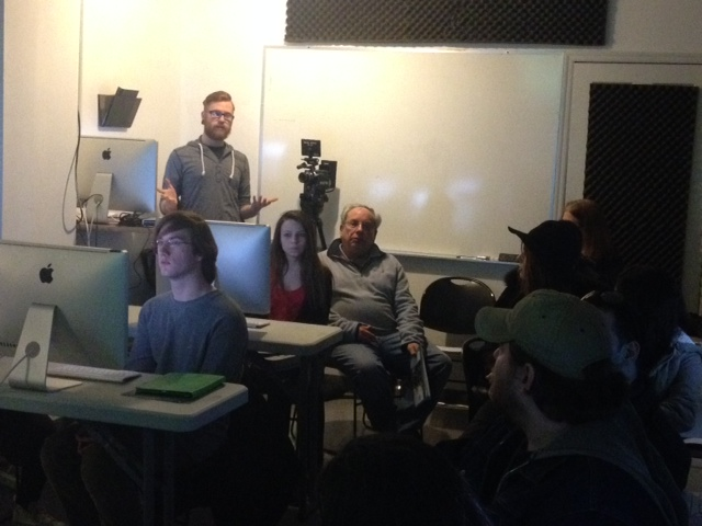 Corey Christian walks the room through the finer points of editing.