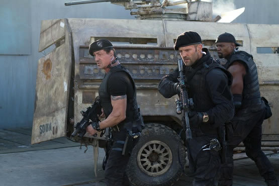 Sly Stallone in The Expendables