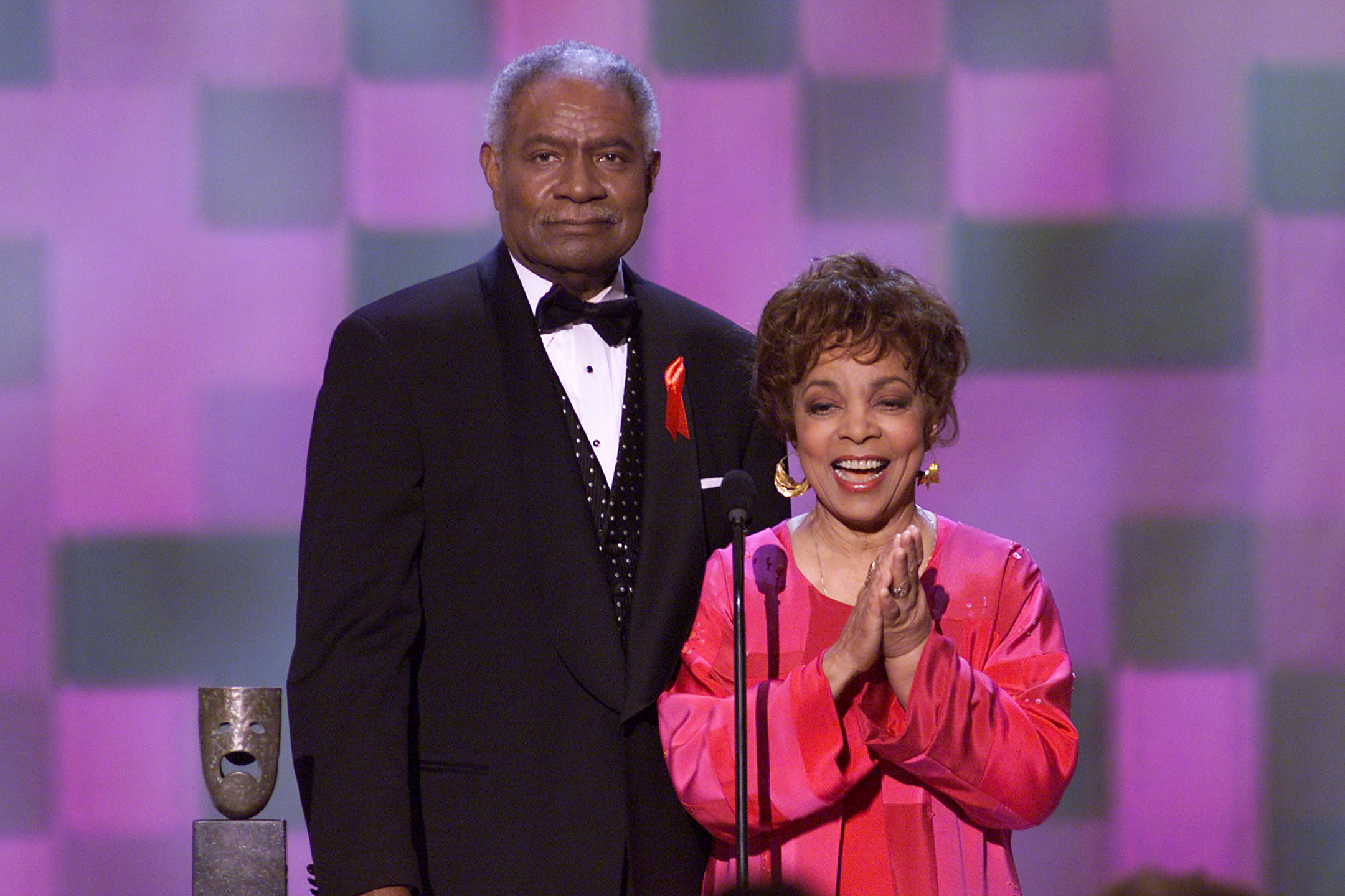 Davis and Dee accept their Lifetime Achievement Award at the 37th Annual SAG Awards.
