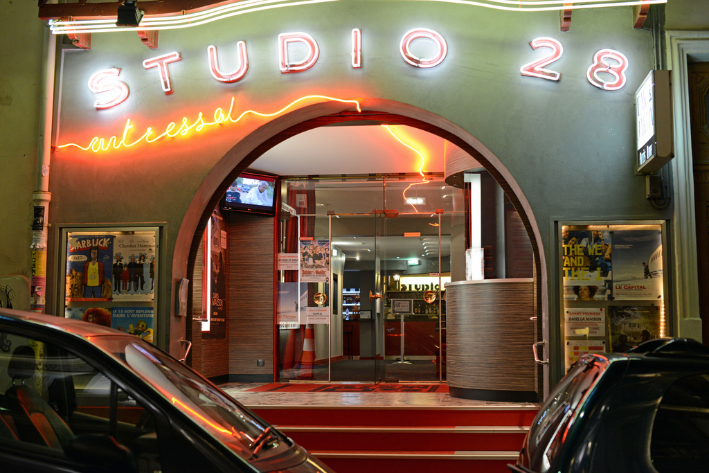 Studio 28 - Paris' oldest theater, in business since 1948.