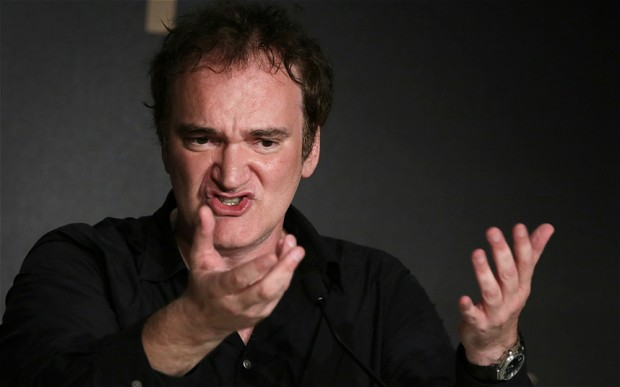 Tarantino discussing digital at a press conference in Cannes.