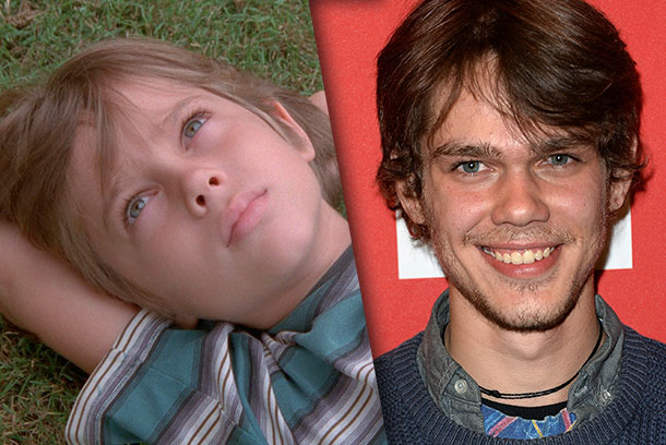 Ellar Coltrane, the film's star: ages 6 and 18.