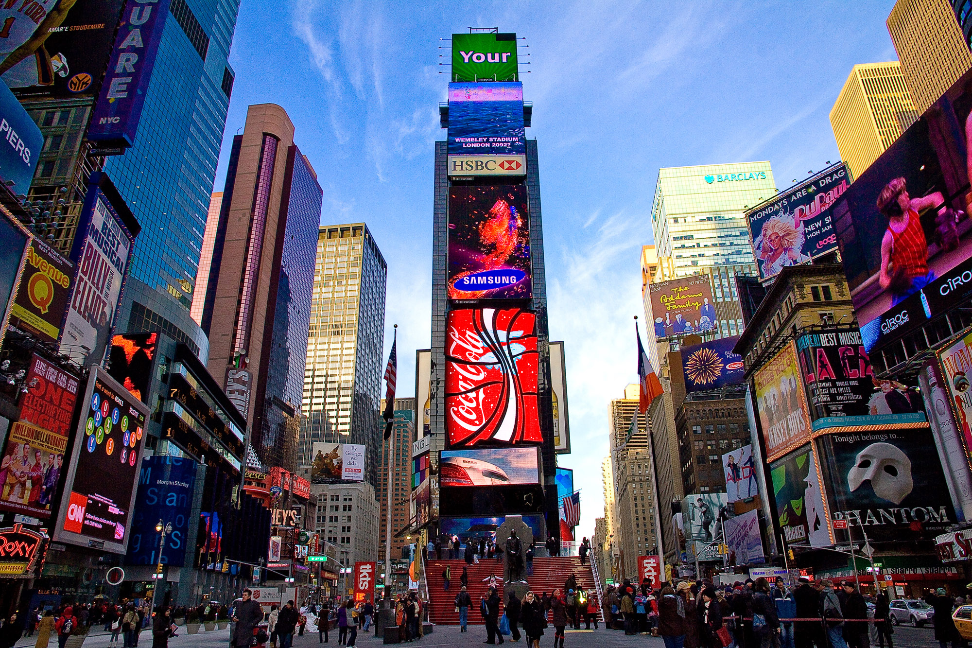 Times Square, home of the DFA.