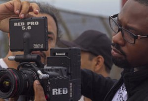 DFA students using the school's Red camera.