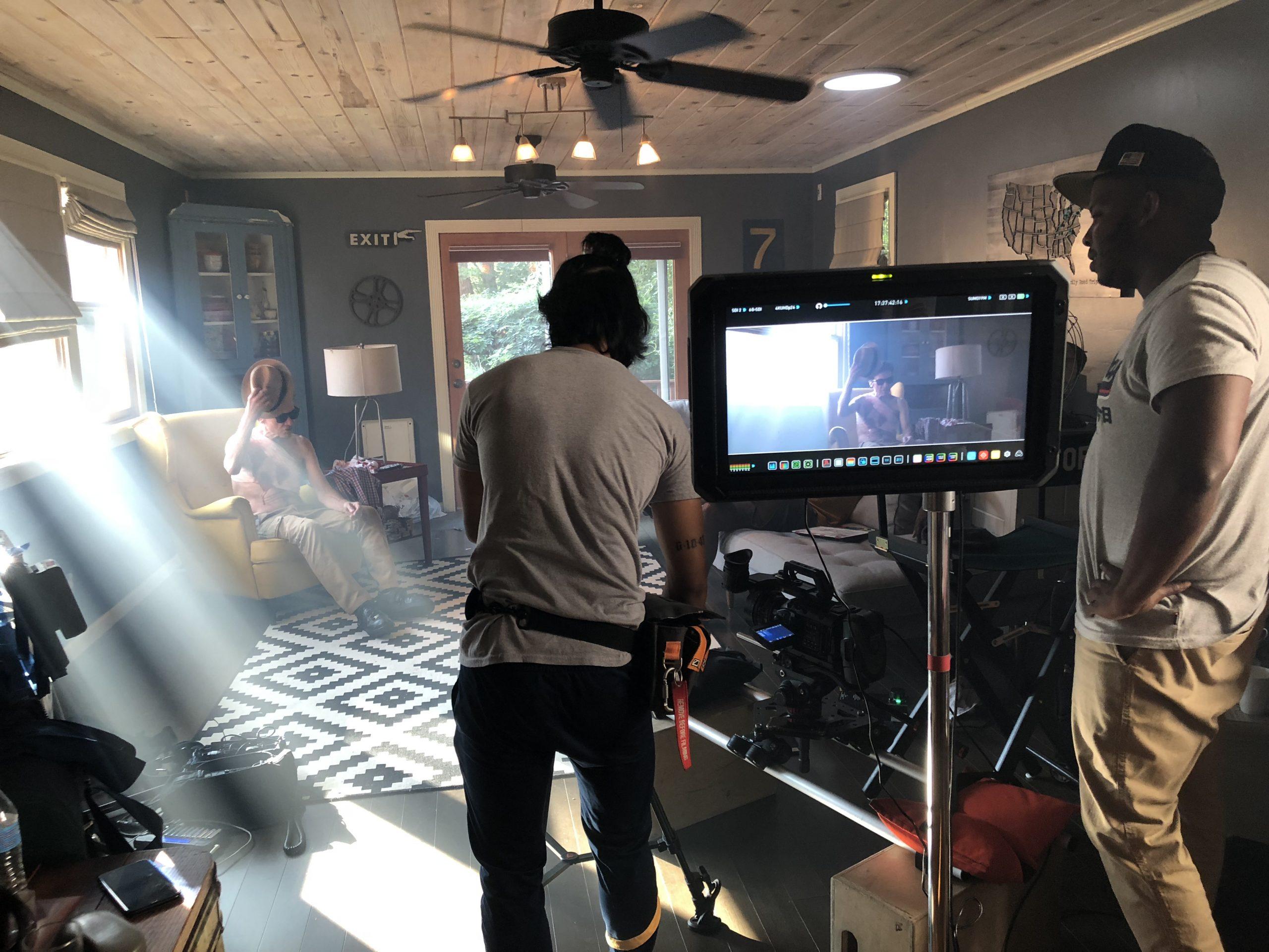 filmmakers on set